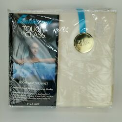 Vintage Fieldcrest Touch Of Class Blanket Full Size Champagne Ivory Style 11208