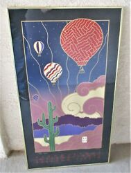 1989 Albuquerque Balloon Fiesta Official 18th Annual Framed Poster Hand Signed