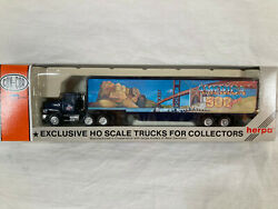 Con-cor/herpa 500 Years Tractor Trailer Mt Rushmore/golden Gate Ho Scale New