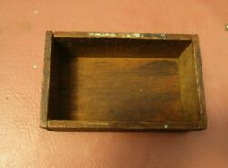 Small Old Antique Wood Box -7 3/4 X 4 3/4 X 3 Tall - Aged Patina
