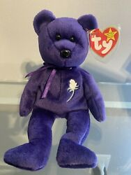 Ty Beanie Baby Princess Diana 1997 Mint Condition, Rare Pe Pellets With Tags