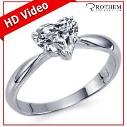 Heart Shaped Diamond Engagement Ring 1.00 Ct Solitaire White Gold I1 06352365