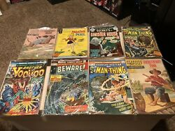 Vintage Comic Book Lot The Man Thing The Outer Limits Mad Etc