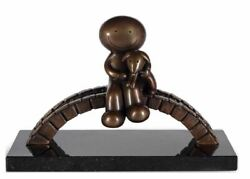 Watching The World Go By Bronze Sculpture By Doug Hyde Brand New
