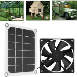 Solar Panel Powered Fan Dog Coop Greenhouse 6and039and039solar Exhaust Fan Rv Car Fan