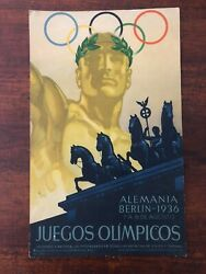 Original And Rare 1936 Summer Olympic Games Advertising Poster