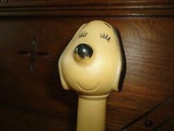 Vintage Snoopy Rubber Squeaker Squeaky Toy 5.5 Inch Taiwan Works 100
