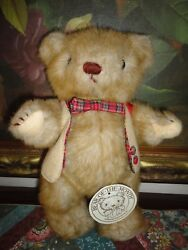 Gorham Bear Of The Month 1984 Sebastian Septembear Iii All Tags Jointed 12in.