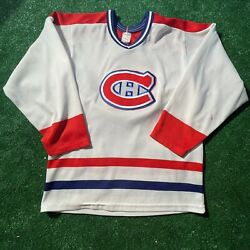 Vintage Montreal Canadians Canadiens Hockey Jersey Knit Ccm Small