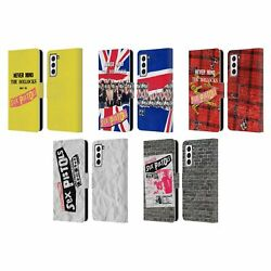 Official Sex Pistols Band Art Leather Book Case For Samsung Phones 4