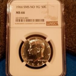 1966 Ngc Ms66 No And039fgand039 Sms Kennedy Half Dollar 6210365-001