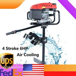 4 Stroke 6hp Outboard Motor Fishing Boat Engine Gasoline Engine Air Cooling