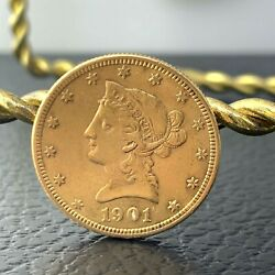 Us Ms Liberty Head 10 Gold Coin 1901