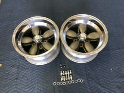 Vintage Pair Of Real American Racing Daisy Wheels 15x8.5 Chevy 5 On 4 3/4