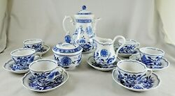 Hutschenreuther Porcelain Blue Onion Pattern Small Coffee Set