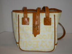 Dooney amp; Bourke Yellow Signature Leather Bucket Purse With Leather Trim Cute $29.99