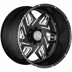 24x14 Black Milled Wheels American Truxx Forged Atf1908 Orion 8x180 -76 Set Of