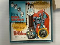 Dc Reign Of The Supermen Fossil Watch – 1993 – Nib With Coin – Free S/h