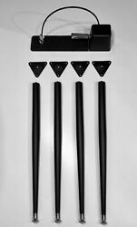 Black Wurlitzer Electric Piano Legs, Plates And Sustain Pedal 200 200a 206