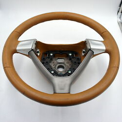Porsche Steering Wheel 997 987 911 Boxster Cayman Tan Leather Brown