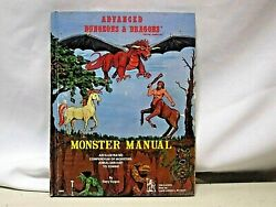 1977 Advanced Dandd Dungeons And Dragons Monster Manual Tsr Games Hard Cover