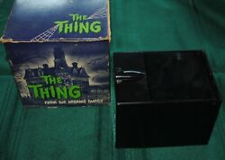 1964 Vintage The Thing Addams Family Metal Coin Bank Original Box Not Working