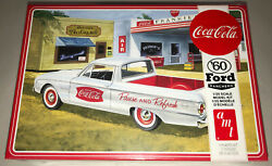 Amt 1960 Ford Ranchero With Coke Chest Coca-cola 125 Model Car Kit 1189