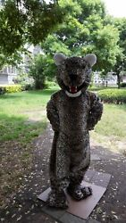 Jaguar Mascot Costume Suit Cosplay Game Dress Outfit Advertising Halloween Hot