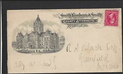 Rushville,indiana,1890's Cover Full Front Illust Building Advt. County Attorneys