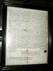 1695 Wolcott Family Hartford East Windsor Ct Grant Document Connecticut Colony