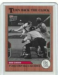 🛑 Bob Gibson Topps Now Turn Back The Clock 108 Cherry Parallel 3/7 🔥
