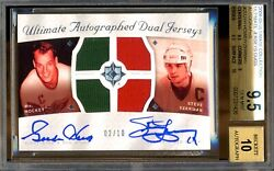 2008-09 Ultimate Collection Ultimate Autograph Jersey Patches Howe Yzerman 2/10