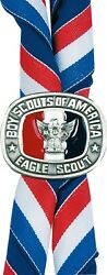 Boy Scouts Of America Official Bsa Eagle Scout Neckerchief Slide Red White Blue