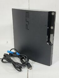 Sony Playstation 3 Slim Ps3 120gb Cech-2001a Console And Cables Tested