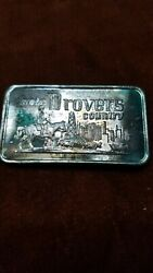 Drovers Country 1973 999 Silver 1 Oz Bar Chicago Bank Monster Toned Lot 621