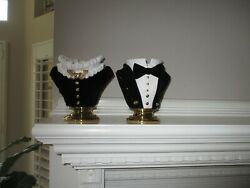Bath And Body Works 2021 Halloween Headless Vampire Butler And Maid Candle Holders