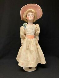 Antique German Bisque Gibson Girl Doll By The J. D. Kestner Company