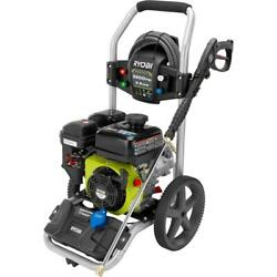 Ryobi Gas Pressure Washer Cleaner 3200 Psi 2.5 Gpm 212cc Wheels Compact Cleaning