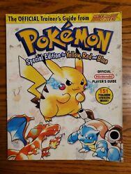 Pokemon Nintendo Guide Yellow Red And Blue Special Edition 1999 Most Stickers