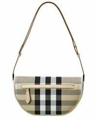 Olympia Small Check And Leather Shoulder Bag Women's
