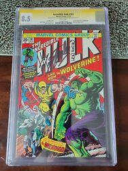 The Incredible Hulk 181 Cgc Ss 8.5 And The Advertisement For 181 Cgc Ss Too
