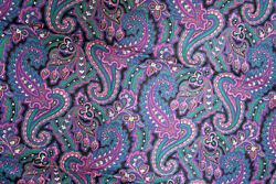 SPECIAL BUY LARGE PAISLEY IN PINK GREEN AND WHITE 100amp; COTTON FABRICS