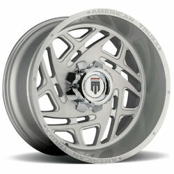 22x12 Brushed Texture Wheels American Truxx At1904 Cosmos 6x135/6x5.5 -44 Set O