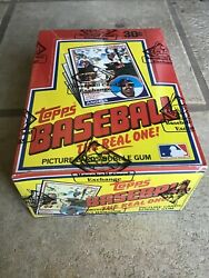 1983 Topps Baseball Unopened Wax Box From A Sealed Case Fasc Bbce - Gwynn Boggs