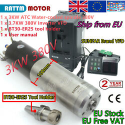 3kw 380v Atc Automatic Tool Change Water Cooled Spindle Bt30 +3.7kw Vfd Inverter