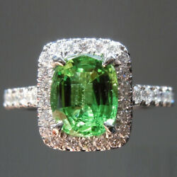 2.10 Ct Stunning Emerald And Diamond Wedding Ring Solid 14k White Gold Sizes 7 8 9