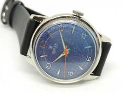 Rolex Precision Antique Watch Blue Glitter Dial 1940s Working From Japan