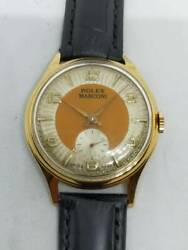 Rolex Marconi Watch 2 Tone Dial Small Second K18gp Antique Working From Japan