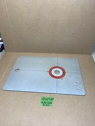 """Aluminum Router Table / Plate 18""""x 12""""x 1/4"""" Drilled For Porter Cable Routers"""