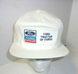 Rare Ford New Holland Tractor Dealer Fargo Trucker Vintage K Products Hat Cap